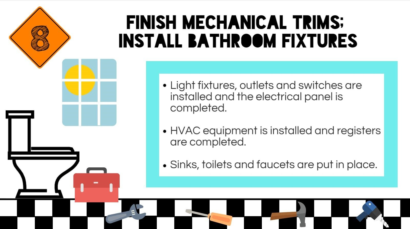 Step 8 Of The Custom Home Building Process Mechanical Trims How To Install A Light Fixture From An Outlet